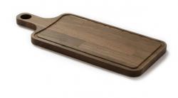 Denwood - Bæredygtigt serveringsbræt m. saftrille - 48x20x2 cm.