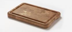 Denwood - skærebræt af endetræ i eg - 43x30x4 cm.