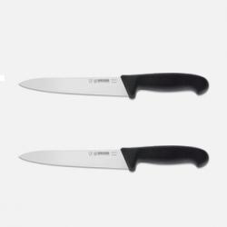 Giesser Forskærerkniv, sort 18 cm.  2 stk (Begrænset antal)