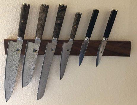 Knivmagnet i mahogni - Flere længder