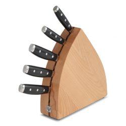Yaxell GOU - Blok sæt i bøg m. 5 knive
