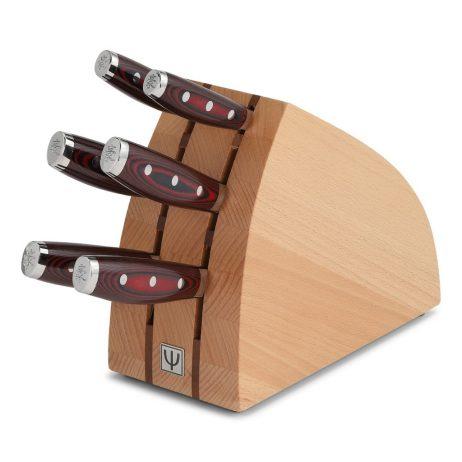 Yaxell SUPER GOU - Blok sæt i bøg m. 6 knive
