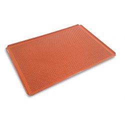 Bageplade / bakeoff m. siliconebelægning, 60x40cm, perforeret