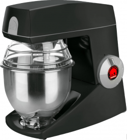Bjørn Teddy køkkenmaskine i sort - 5 liter