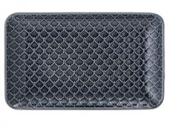 Bloomingville blå fitkantet tallerken fra Naomi serien