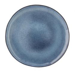 Bloomingville tallerken i blåtglaseret stentøj Ø28,5