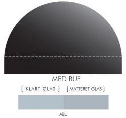 Buet stænkpanel i jernfrit glas - Alu-farvet -Flere størrelser