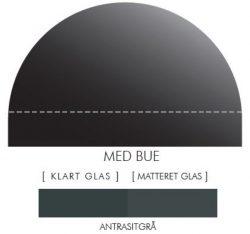 Buet stænkpanel i jernfrit glas- Antrasitgrå -Flere størrelser