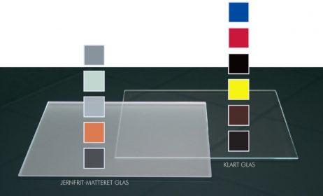 Firkantet stænkpanel i jernfrit glas  - Antrestikgrå - Flere størrelser