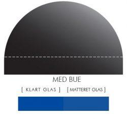 Buet stænkpanel i jernfrit glas- Blå -Flere størrelser