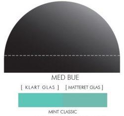 Buet stænkpanel i jernfrit glas - Classic mint - Flere størrelser