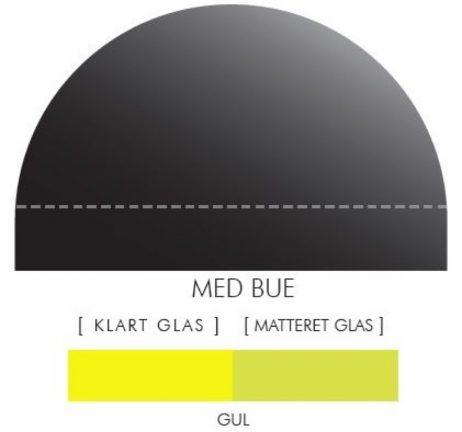Buet stænkpanel i jernfrit glas- Gul -Flere størrelser