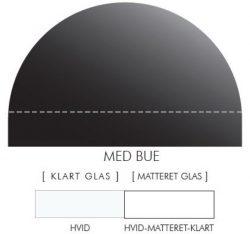 Buet stænkpanel i jernfrit glas- Hvid -Flere størrelser