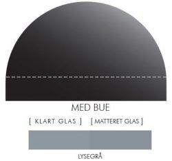 Buet stænkpanel i jernfrit glas- Lysegrå -Flere størrelser