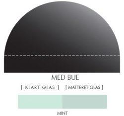 Buet stænkpanel i jernfrit glas- Mint -Flere størrelser