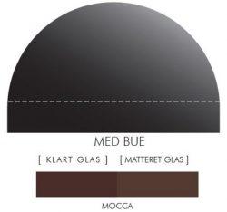 Buet stænkpanel i jernfrit glas- Mokka -Flere størrelser