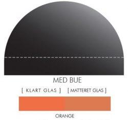 Buet stænkpanel i jernfrit glas - Orange - Flere størrelser