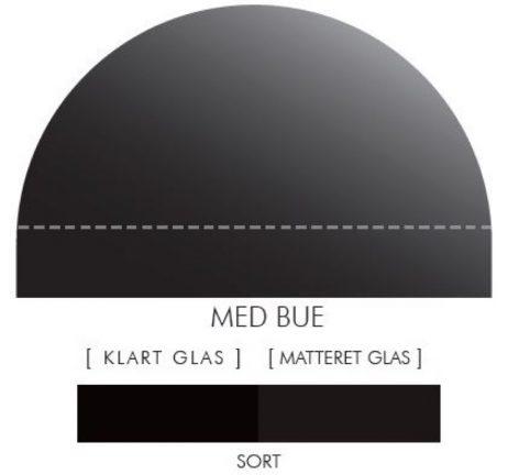 Buet stænkpanel i jernfrit glas- Sort -Flere størrelser