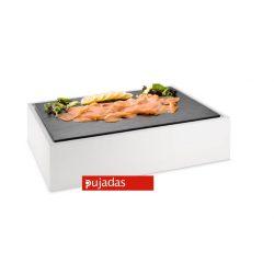 Buffet display, Pujadas 904.160, sort eller hvid med plade i melamin