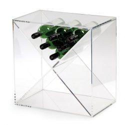 Cube vinhylde i akryl, plads til 24 flakser fra Gastro De Luxe