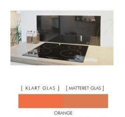 Firkantet stænkpanel i jernfrit glas  - Orange - Flere størrelser