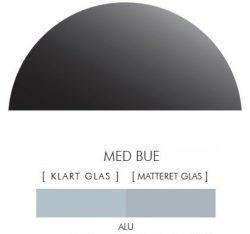 Halvcirkel stænkpanel i jernfrit glas  - Alu-farvet -Flere størrelser