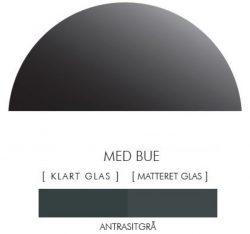 Halvcirkel stænkpanel i jernfrit glas  - Antrasitgrå -Flere størrelser