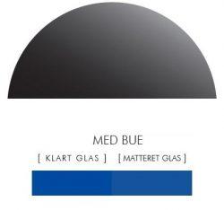 Halvcirkel stænkpanel i jernfrit glas  - Blå -Flere størrelser