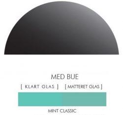 Halvcirkel stænkpanel i jernfrit glas  - Classic mint -Flere størrelser