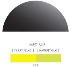 Halvcirkel stænkpanel i jernfrit glas  - Gul -Flere størrelser