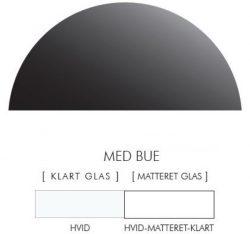 Halvcirkel stænkpanel i jernfrit glas  - Hvid -Flere størrelser