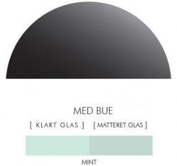 Halvcirkel stænkpanel i jernfrit glas  - Mint -Flere størrelser