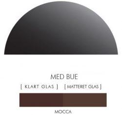 Halvcirkel stænkpanel i jernfrit glas  - Mocca -Flere størrelser