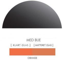 Halvcirkel stænkpanel i jernfrit glas  - Orange -Flere størrelser