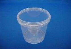 Plastbøtte 5054 – 1550 ml. – Klar - inkl. låg