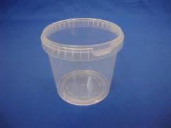 Plastbøtte 5141- 2300 ml.- Klar - inkl. låg