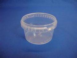 Plastbøtte 5220 – 480 ml – Klar - inkl. låg