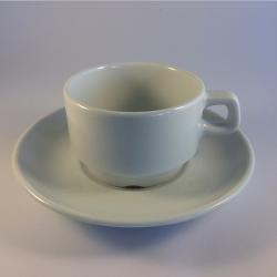 Porcelæn overkop/kaffekop - Amalie, flere størrelser