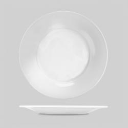 Porcelain bred kant's tallerken 30,50 cm. (hvid) Churchill