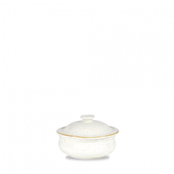 Skål med låg farve Barley White i porcelæn
