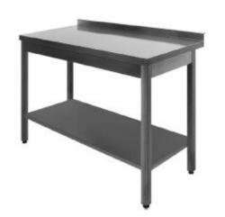 Stålbord DSL med underhylde, 600 mm dyb i mange længder