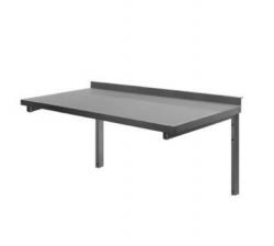 Stålbordplade med vanger DHR, 700 mm dyb i mange længder