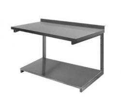 Stålbordplade med vanger og underhylde, DHL, 700mm dyb i mange længder