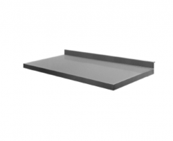 Stålbordplade uden vanger DSW, 700 mm dyb i mange længder