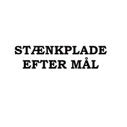 Stænkplade i stål efter mål - Forspørgsler modtages på mail@gastrobutikken.dk