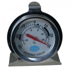 Termometer, rundt, -30 til +30 grader