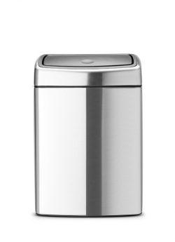 Touch Bin Rektangulær fra Brabantia - 10 Liter Mat FPP Stål