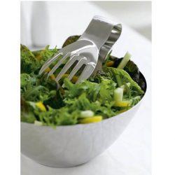 Sæt med salatskål og stor salathånd i stål