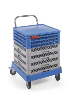 Trolley til opvaskebakker med stålhåndtag, Hendi