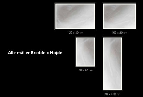 Backlight spejl dansk produceret Rundt